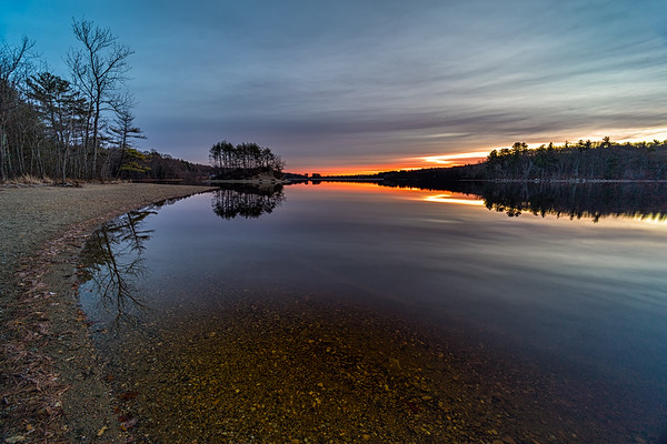 Sunrise Scene - Hopkinton State Park - Tom Sloan
