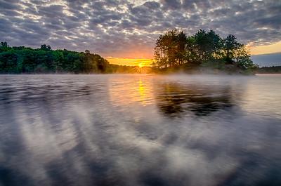 Sunstar and Fog - Hopkinton State Park