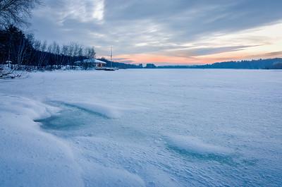 Snow Covered Dawn - Hopkinton State Park - Tom Sloan