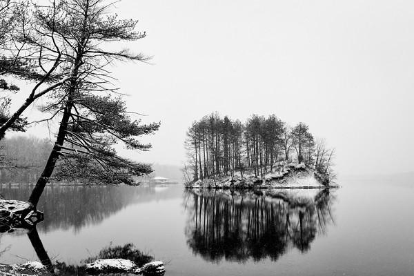 Snow Island - Black and White - Tom Sloan