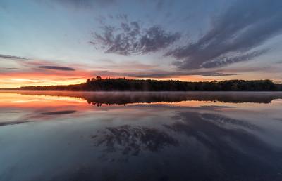 Sunrise Reflections - Hopkinton State Park - Tom Sloan
