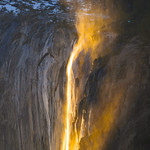 Horsetail Falls at Sunset in Yosemite National Park