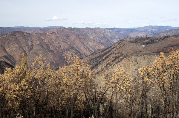 Rim of the World overlook showing just a portion of where the fire burned.
