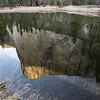 El Capitan reflected in the Merced River.