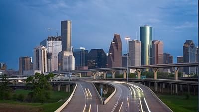 Houston Downtown from I-45 Bridge