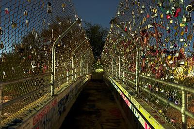 Houston - Love Lock Bridge at Night