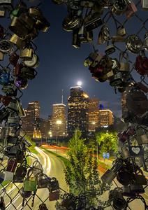 Downtown Houston from Love Lock Bridge