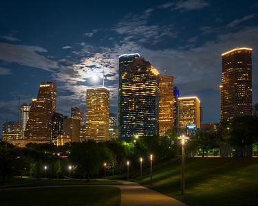 Houston Nights on Bayou Trail 1