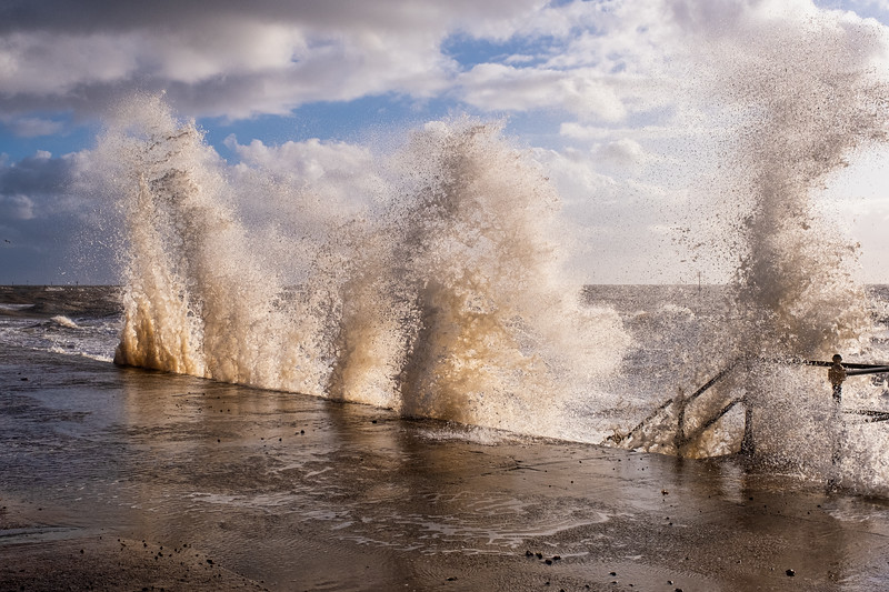 Stormy Seas at Hunstanton Promenade