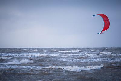 Kitesurfers at Old Hunstanton