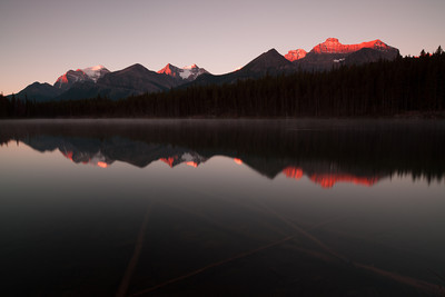Sunrise at Herbert Lake, Icefields Parkway, Banff