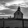 378  G Þórshöfn Church Sunset BW V