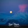 274  G Moonset Near Hofn, Iceland