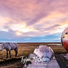 390  G Þórshöfn Plane and Sunset