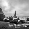 168  G Beach at Vik, Iceland BW