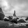 168  G Beach at Vik, Iceland BW