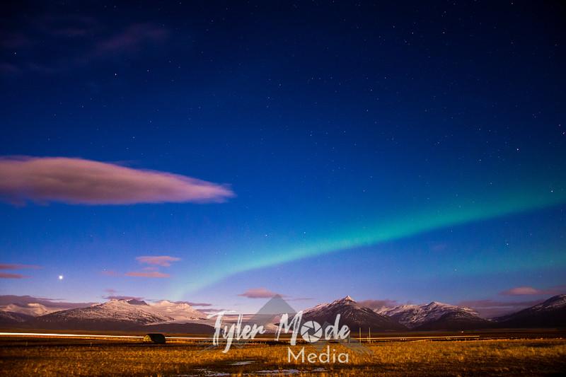 268  G SE Iceland Glacier and Aurora
