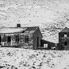 421  G Snowy Abandoned Home BW