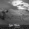 574  G Moon Over Mountains With Clouds BW