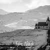 632  G Lonely Church and Mountains BW