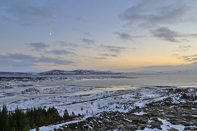 Views across the area where the American and Eurasian tectonic plates meet! They move all the time - there were 7 recorded earthquakes on the island in the four days we were there (we felt nothing).