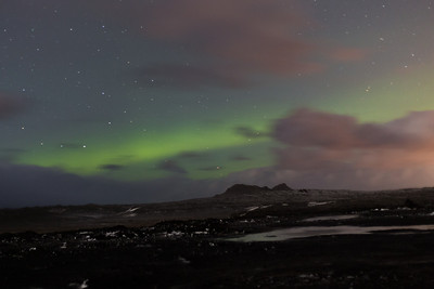 Our only view of the Aurora Borealis (The Northern Lights). Top left of the image is also Comet Lovejoy - a lucky catch :-)