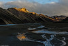 Landmannalaugar, the last sun at the summits ...