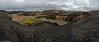 View from Bláhnúkur, Landmannalaugar. Alone at the mountain ....