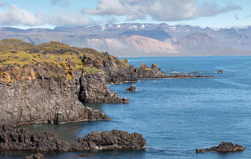 Lóndrangar basalt cliffs - Snæfellsnes Peninsula