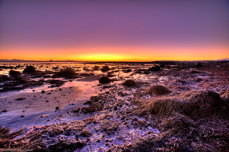 Icelandic winter sunset