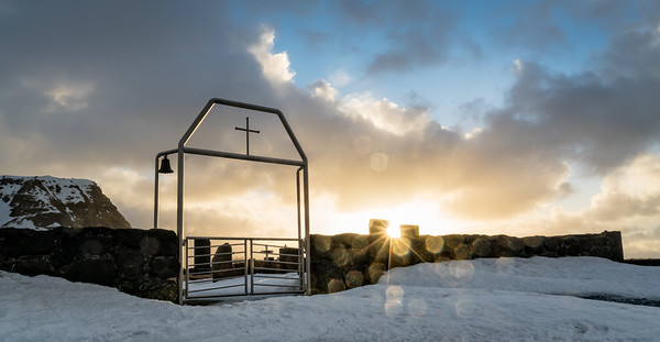 Sunrise at the church cemetery