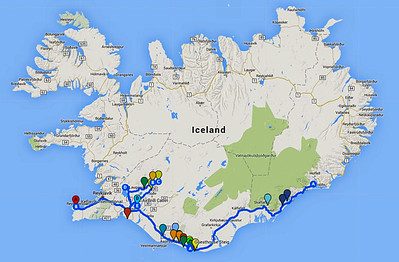 This illustrates our general route.  So much seen, and so much to explore in the future!