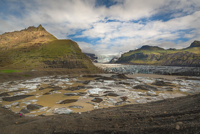 At the Svínafellsjökull glacier