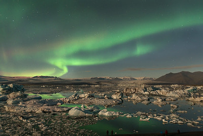 Dancing Light Over Glacier Lagoon