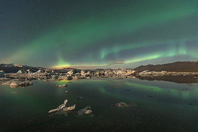 Night Sky over Glacier Lagoon