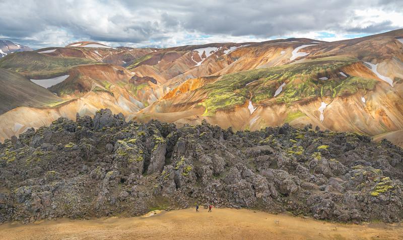 Hiking Along the Lava Field