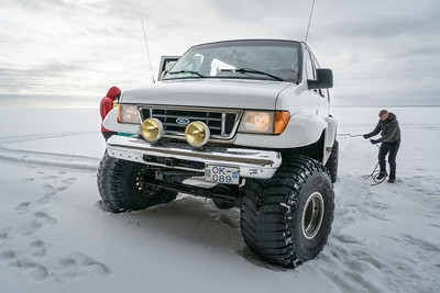 "An ""Arctic Jeep"", transport to the ice cave"