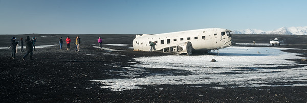 The famous DC-3 that crashed on Sólheimasandur beach in 1973.  About 15 minutes offroad.  Access is now prohibited due to tourists driving all over private land.