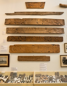 Ship nameplates dating from the 1870s