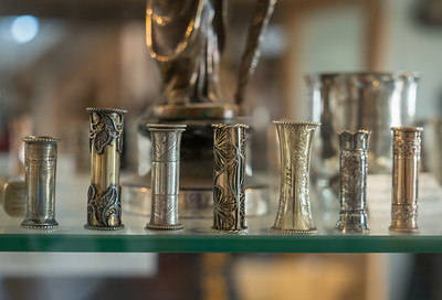 Not sure what these are -- shotglasses, napkin rings? -- but the rich and varied decoration made an irresistible shot