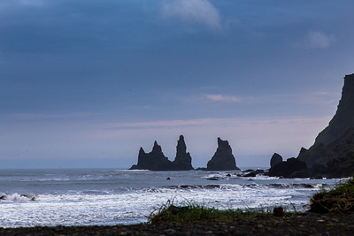 Black beach of Reynisdrangar, Vík, south Iceland, at sunset If you like these images, please check out my Bookstore