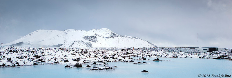 Outside the Blue Lagoon, between snow squalls.