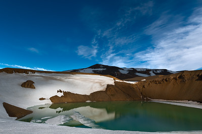 Shadows on Viti crater in northern Iceland