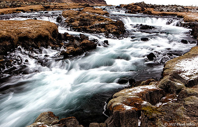 Cascades along the souther Ring Road east of Vik.