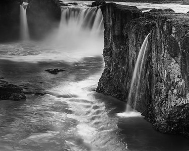 Godafoss in Black & White #1