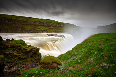Gullfoss waterfall in the Golden Circle.