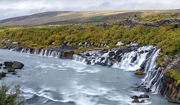 Hraunfossar waterfalls - West Iceland