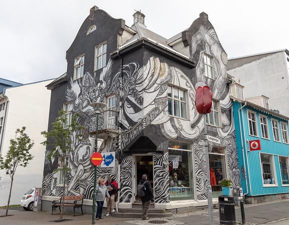 shop on Laugavegur (main shopping street) in Reykjavik