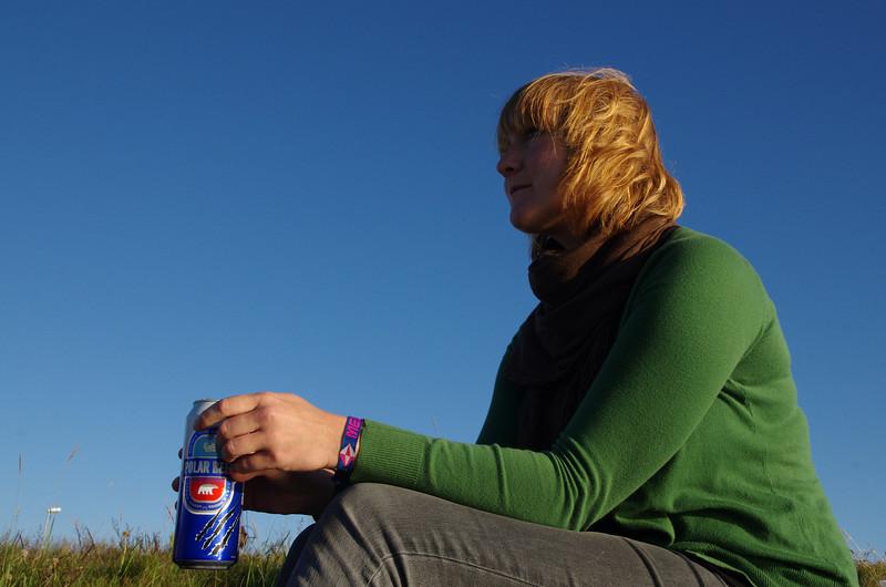 Enjoying a last beer in Reykjavik before we headed back home...