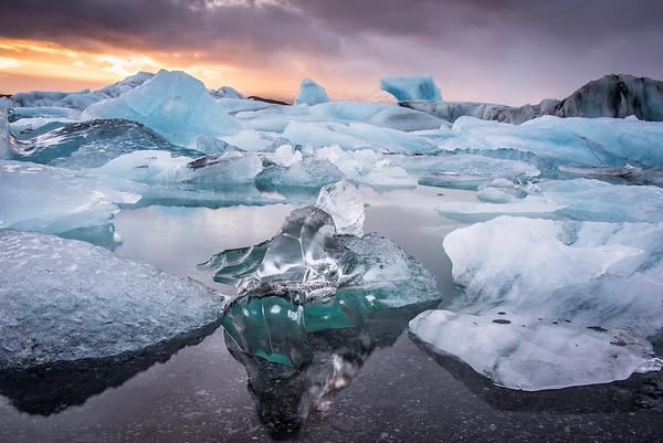 Still Ice Sunset
